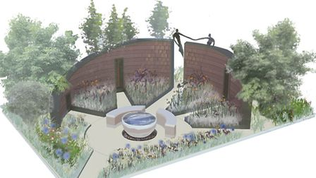 The submission image for the garden to the Chelsea Flower Show