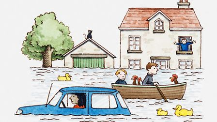 James wasnt banking on having to get to the BBC studios by boat - illustration Dorling Kindersley