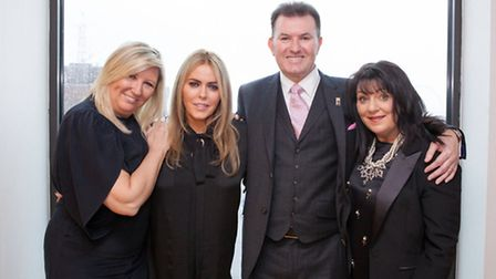 Lorraine McCulloch, Patsy Kensit, Marcus Magee (General Manager, Hilton Hotel), Carolyn Hughes (Caro