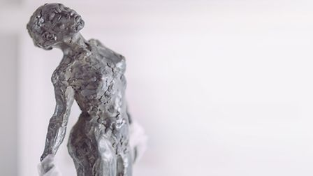 The completed Devon Life nude sculpture