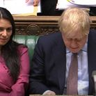 Home secretary Priti Patel and prime minister Boris Johnson