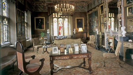 Knebworth House state drawing room