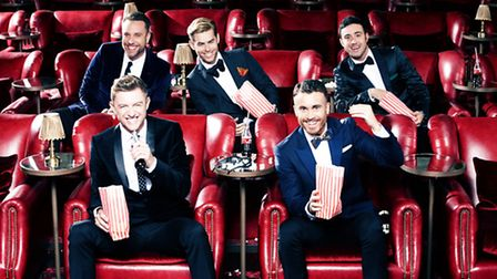 Mark Franks from Sale, Cheshire, of The Overtones with the rest of the group