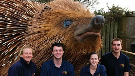 With some of the keepers at the Lingfield wildlife centre (Photo: Matt Binstead)