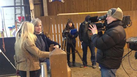 The Countryfile team filming at Cranleigh RDA