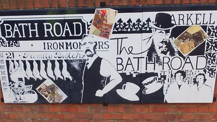 The three painted vitreous enamel panels by Sue Brown celebrating local history / Photo: Joseph Mere