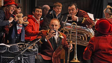 The brass band competing in the Saddleworth Brass Band competition, Brassed Off / Photo: Nobby Clark