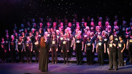 Pippa leading one of her Rock Choirs