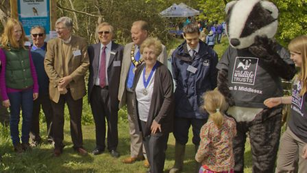The mayors of Sawbridgeworth and Bishop's Stortford join the trust to celebrate restoration and acce