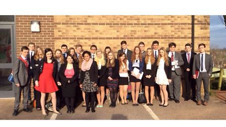 Shebbear College students at the annual Model United Nations Conference at Queen's College in Taunto