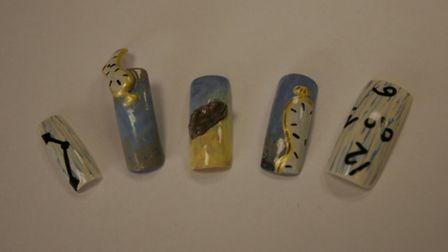 Becky Stanley used Salvador Dali's work as inspiration for her nails