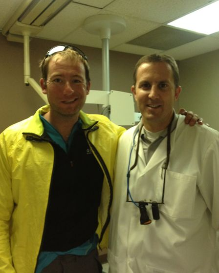 James needed emergency treatment - luckily this dentisit in America helped him out