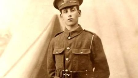 Private William Henry Fisher of the 10th Battalion Gloster Regiment (picture courtesy of June Davey)