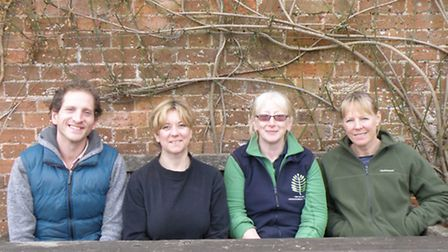 Horticulture Lecturer Janice Hindley with students Julie, Jane and Gavin