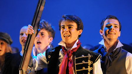 Jordan Li-Smith in a production of Les Miserables at The Hammond
