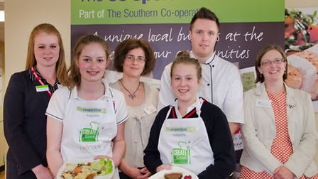 Chef Steven Edwards with Sussex county winners 2013 © Southern News & Pictures Ltd.