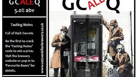 GCAleQ beer commemorates the new street art in Cheltenham purported to be the work of Banksy