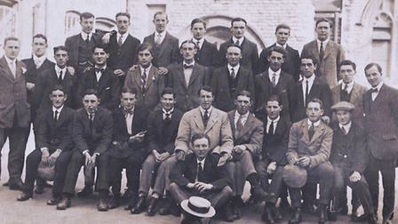 Senior members of the Boys Brigade. Harry is second from the right of the middle row.