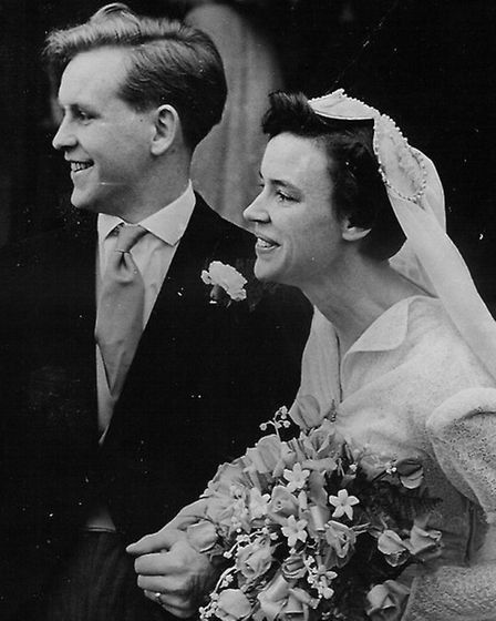 Magnus and Mamie on their wedding day