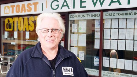 Mark Gale, chief executive of Gloucestershire Gateway Trust at the On Toast cafe in Matson