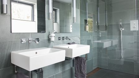 The bathroom, shower room and downstairs WC were all refurbished with Obsidian suites from Bence of