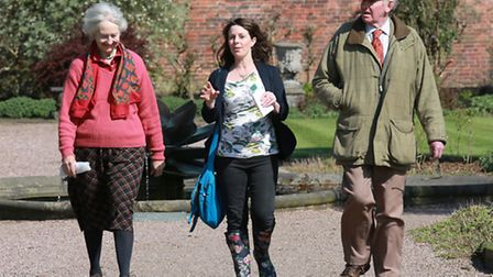 Lord and Lady Ashbrook with Jacqui Brocklehurst at Arley Hall Gardens