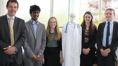 Exeter School's four Upper Sixth students who have received medical offers at top universities acros