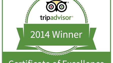 The Trip Advisor Certificate of Excellence