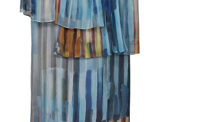 Blue and orange dont work... but this waterfall dress, £400 from Maryling, is the exception that pro