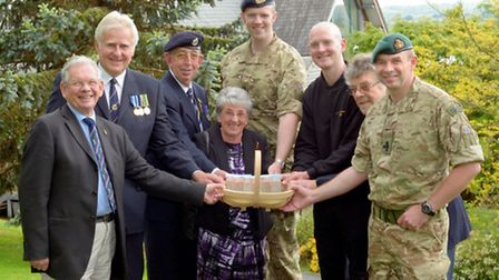 (From left to right) Ian Cole from Bideford, Former RN Serviceman, Roy Lucas from Braunton, RAF Asso