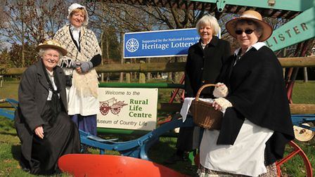 Volunteers at the Rural Life Centre - Judy Hewins, Bridget Woodhouse, Rosemary Longman and Pam Taylo