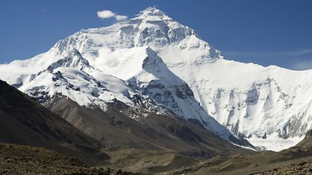 Everest North Face toward Base Camp Tibet by Luca Galuzzi 2006
