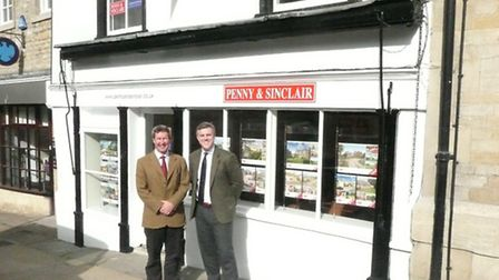 Directors James Penny (Right) and Fergus Mitchell (Left) outside their new Burford office