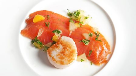 The smoked salmon on the menu comes ffrom the nearby Ettrick Valley