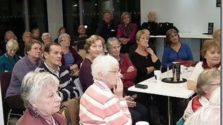 People gather at one of Torbay Hospital's Science Café events