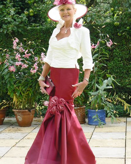 Trudi in her favourite oufit. She wore it to Claudia's wedding four years ago