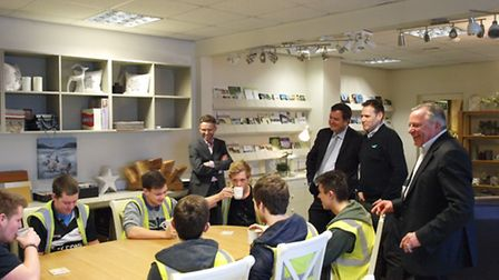 Mel Stride, Member of Parliament for the Central Devon constituency tours Pathfinder Homes and meets