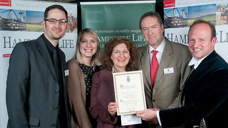 The people behind the Tom Prince Cancer Trust receive their award