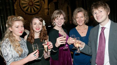Sophie Holdway, Lizzie Moore, Claire Harrill, Melanie Harrill and Nick Littler