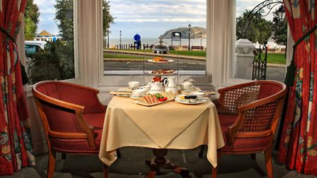 St Tudno's Welsh afternoon tea - complete with sea view