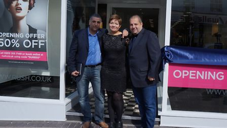 Stelios Andrew, Caitlin O''Brien and Andy Phouli at Rush Surbiton