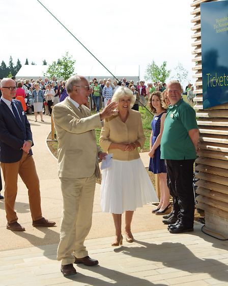 The Duchess of Cornwall arrives at the new Welcome Building