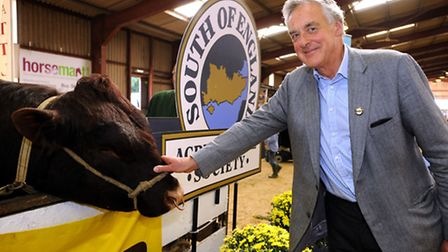 Lord Egremont, this year's President of the South of England Show