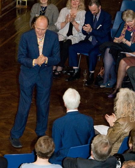 Sir Peter entertains the audience