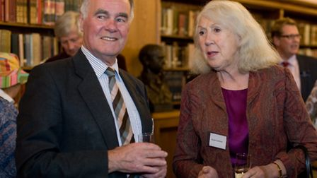 Angus Ross OL and Lancing College Development Council member Lady Susan Conway