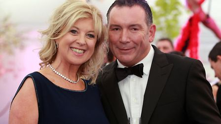Lucy Meacock of ITN news with partner Nigel Graham