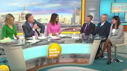 Fellow guests and presenters looked awkward as Lisa Nandy and Piers Morgan row on-air. Photograph: I