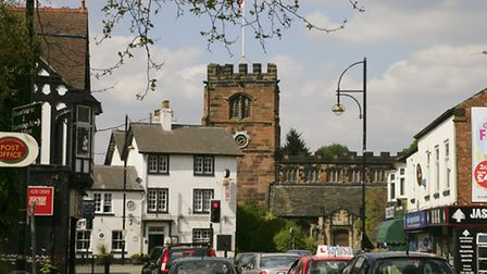St. Mary's Parish Church,and Wilmslow Road, Cheadle.