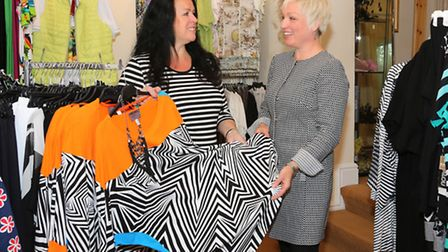 Helen Johnson with shop manager, Suzanne Wild