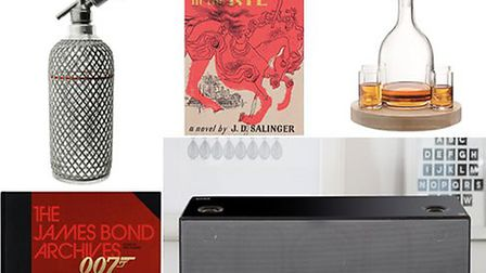 London Soda Siphon, The Catcher in the Rye poster, Lotta Decanter Set, The Bond Archives, SRS-X9 Wir